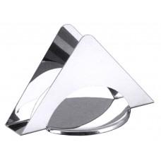 Салфетница  треугольная из нержавеющей стали 12*7,5см