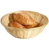Корзинка круглая диаметром 22см из бамбука